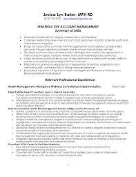 strategic key account management resume   strategic key account management resume     jesica lyn baker  mph rd