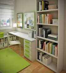 small modern and stylish kids study room design by sergi mengot green color style modern child children study room design