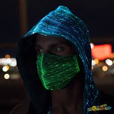 Masks & Eye Masks <b>LED Rave Mask Light</b> Up Mask Festival EDM ...