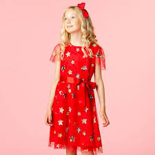 Girls Designer <b>Party Dress Red Sequin</b> Star Tulle | Holly Hastie ...