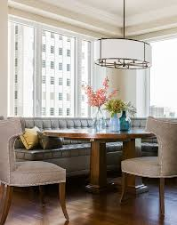faux magnolia centerpiece for in dining room contemporary with circular pendant breakfast nook breakfast nook lighting ideas