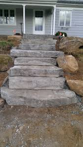 patio steps pea size x: concrete steps made to look natural