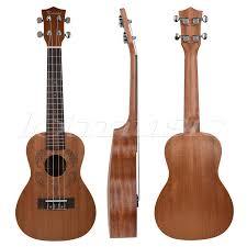 Kmise Mahogany Concert Ukulele <b>23 inch</b> Hawaii Guitar <b>Rosewood</b> ...