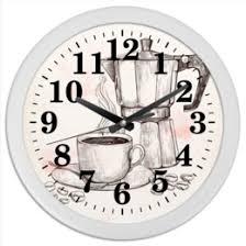 """Часы для офиса c дизайнерскими принтами """"Еда и напитки ..."""