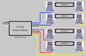 parallel ballast lampholder wiring electrical 101 T12 Ho Ballast Wiring Diagram replace 4 lamp parallel ballast wiring diagram 2 Lamp T12 Ballast Wiring Diagram