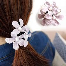 Hot 6 Colors Pearl Fashion Headbands <b>Women Elastic</b> Flowers ...