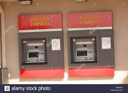 two wells fargo atm automatic teller machine cash machines stock stock photo two wells fargo atm automatic teller machine cash machines