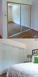 see how replacing broken mirrored closet doors with modern frameless white glass sliding closet doors admirable design mirrored closet door