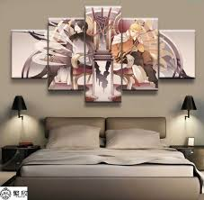 hot sales without frame 4 panels picture cartoon kimono girl canvas print painting artwork wall art wholesale