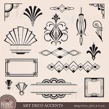 digital clipart art deco art deco furniture lines