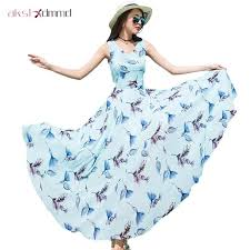 Women Summer Print Dress New Bohemian <b>2019</b> Plus Size <b>S</b>-<b>2XL</b> ...