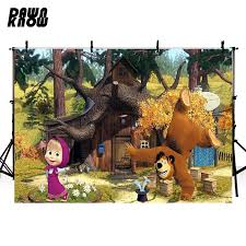 <b>DAWNKNOW Cartoon</b> Masha And Bear <b>Vinyl Photography</b> ...