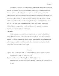essay on childhood obesity  essay sample