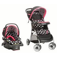 <b>Disney Baby</b> Lift & Stroll™ Plus Travel System, <b>Minnie</b> Coral Flowers ...