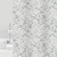 """<b>Штора для ванной Bacchetta</b> """"Dantelle"""", цвет: серый, 180 х 200 см"""