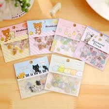 <b>80pcs</b>/<b>lot</b> Cute Kawaii Clear Animal PVC Stickers Lovely Rilakkuma ...
