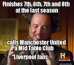 Meme Maker - at the last season calls Manchester United a Mid ... via Relatably.com