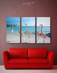 <b>3</b> Pieces Flamingo Wall Art Canvas | Home wall decor ...
