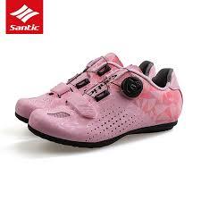 <b>Santic Cycling Shoes Women</b> MTB Road Bike Unlocked Shoes Anti ...