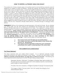 literary essay writing how to write a lit essay literary