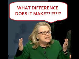 Image result for caricature of hillary clinton...what difference does it make?