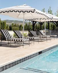 white striped patio umbrella: view full size black and white striped pool loungers canopy
