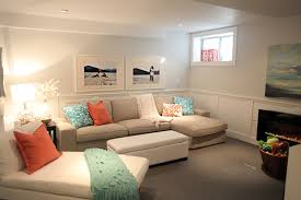 beautiful neutral paint colors living room: beach house in the city tour basement family
