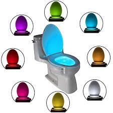 The Original Toilet Bowl <b>Night Light</b> Gadget Funny <b>LED</b> Motion ...