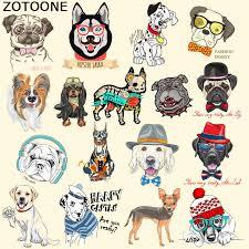 <b>ZOTOONE Cute</b> Dog Cartoon <b>Iron</b> on Patch for Kids Clothes Sticker ...