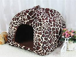 XL, Leopard Vedem Pet Portable <b>Strawberry</b> Fleece House Bed for ...