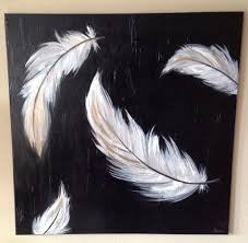 """Large <b>Acrylic Painting</b> on Canvas- """"<b>Feathers</b>"""" 36x36"""" BTW, get this ..."""