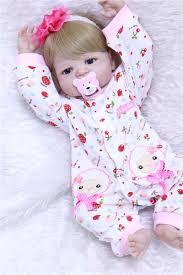 """22"""" reborn Baby Doll Princess Girl Dolls <b>full body Soft Silicone</b> ..."""