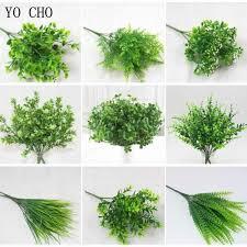 YO CHO <b>Plante Artificielle 7 Forks</b> Imitation Plastic Ferns Grass ...