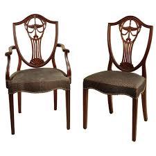 hepplewhite shield dining chairs set:  xxx