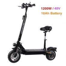 Scooter elettrico <b>FLJ C11 1200W</b> da 10 pollici con sedile bici ...