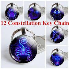 Ключевая цепь 12 созвездия зодиака знак кулон <b>двойной</b> ключ ...
