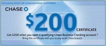 chase bank coupon