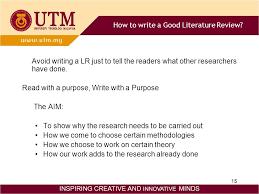 Literature Review  Organizing  amp  Writing INSPIRING CREATIVE AND     SlidePlayer