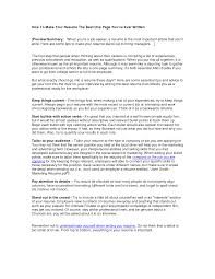 how to build your resume getessay biz how to make your the best one page you ve ever written by for how
