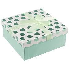 <b>Коробка подарочная Мятные сердечки</b> 18*18*7.5, картон, декор ...
