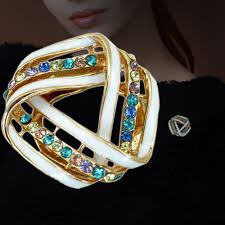 popular unique careers buy cheap unique careers lots from unique style white crystal rhinestone triangle brooch jewelry mainland