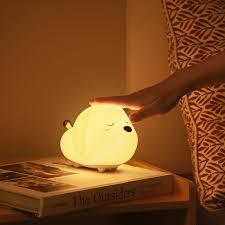 <b>Baseus</b> dog night light usb rechargeable touch sensor <b>led</b> lamp 3 ...