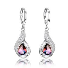 <b>Natural Rainbow Fire Mystic</b> Topaz Earrings Solid 925 Sterling ...