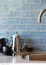 "Beautiful blue handmade tile backsplash Cafe <b>Collection</b> 3""x6 ..."