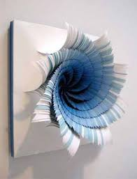 decorating ideas wall art decor: d paper craft ideas for making blue paper flowers for wall decoration