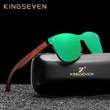 <b>KINGSEVEN</b> Natural Wooden <b>Sunglasses</b> Men <b>Polarized Fashion</b> ...