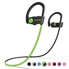 LETSCOM <b>Bluetooth Headphones</b> IPX7 <b>Waterproof</b>, <b>Wireless</b> Sport ...