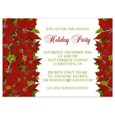 printable christmas party invitation template poinsettia design printable holiday party invitation poinsettia