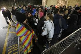 even holiday creep black friday is a big shopping day the shoppers wait for doors to open at walmart on black friday in dartmouth mass
