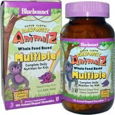 Bluebonnet Nutrition Super Earth <b>Rainforest Animalz Whole</b> Food ...